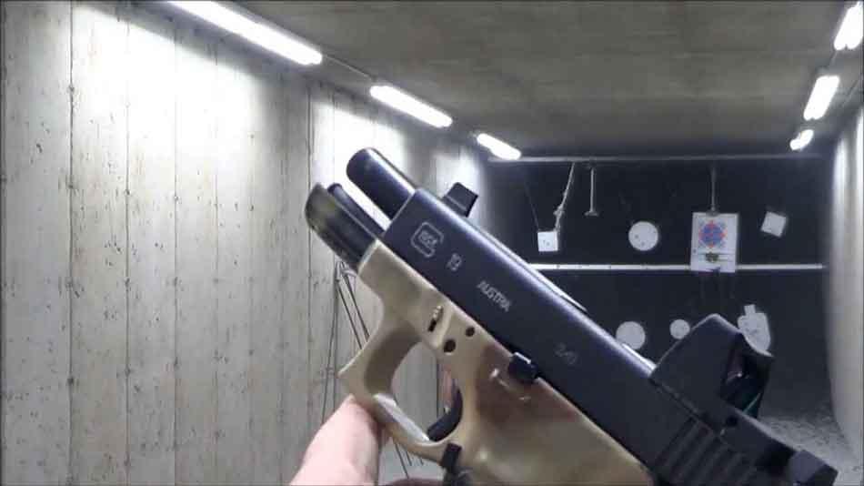 slide back on firearm in garage