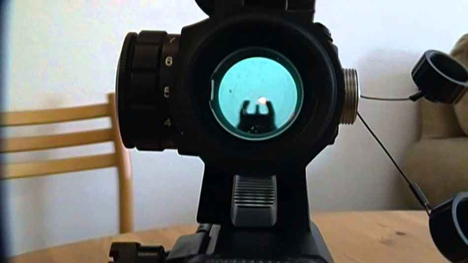 red dot sight picture