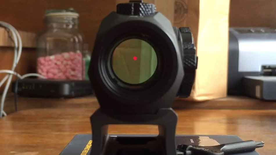 Sig Sauer Romeo5 sight picture of red dot