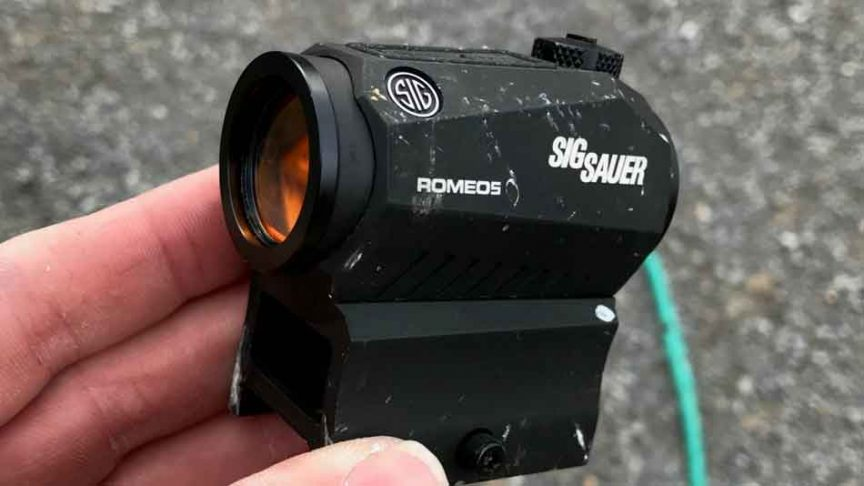 Sig Sauer Romeo5 in hand close up
