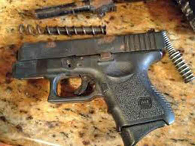 A Glock 19 with rust