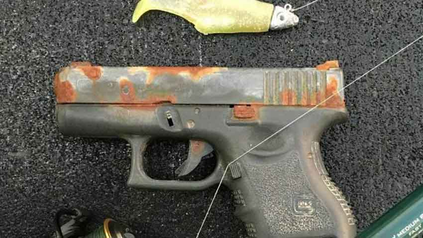 A Glock with extensive rust