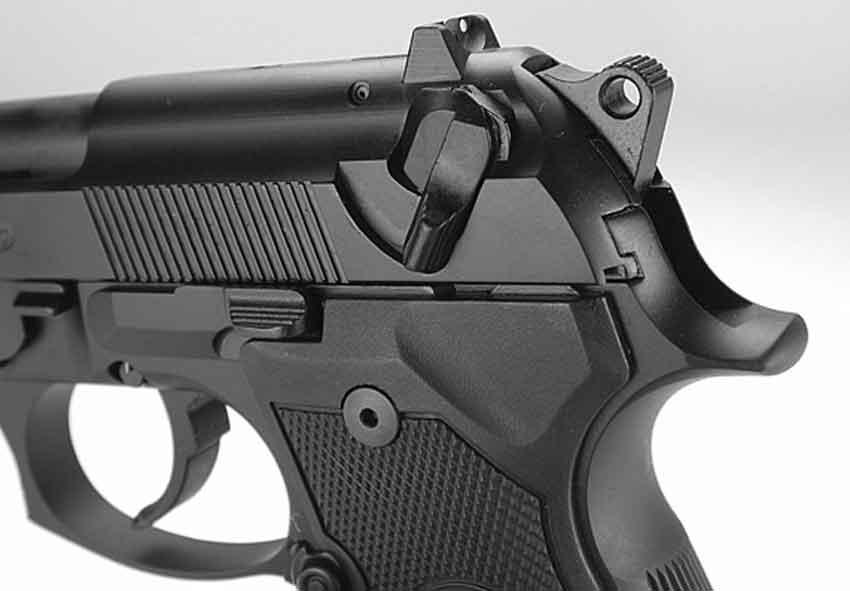 The Beretta 92fs hammer and decocker