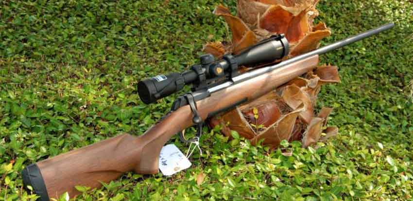 A Browning X bolt rifle on the grass