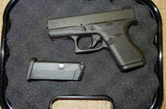 A Glock 42 in a case