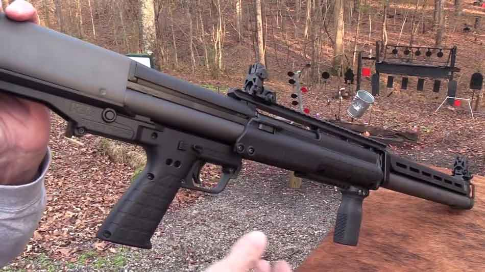 The Kel-Tec KSG-25 shotgun side view