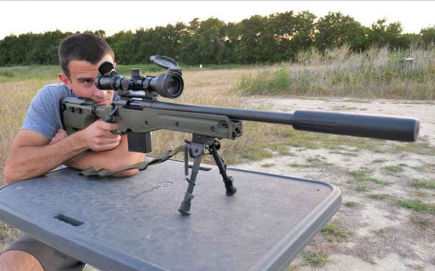 a man with a 308 rifle