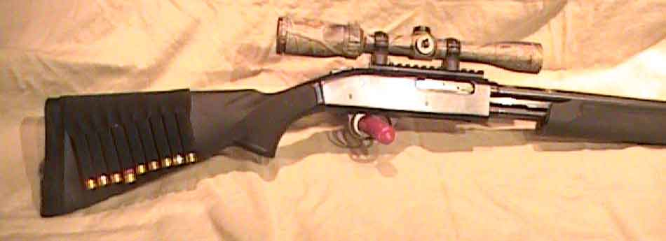 a 410 shotgun with a scope