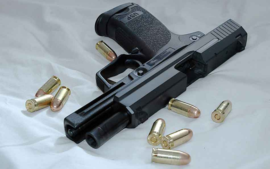 a semi automatic and some 45 rounds