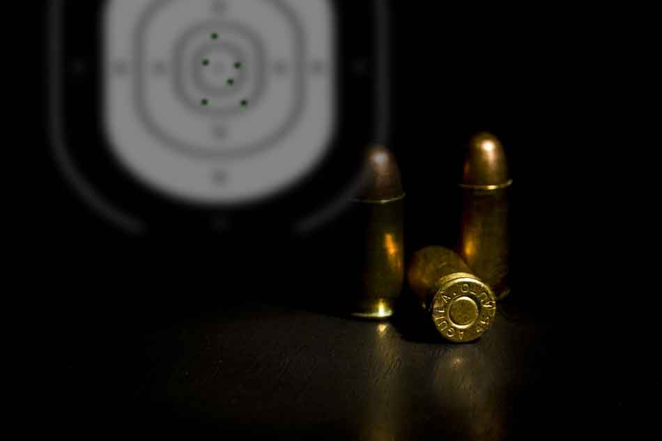a few 45 rounds and a target