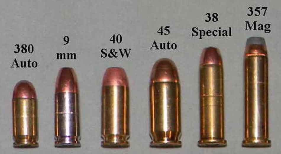 a comparison of size for the 9mm round