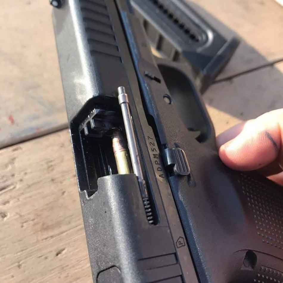 A Glock 44 out of battery
