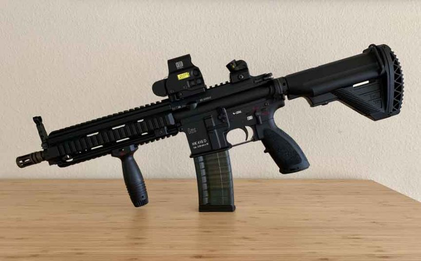 a side view of the HK416
