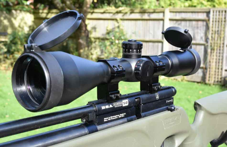 a close up of a scope, side view