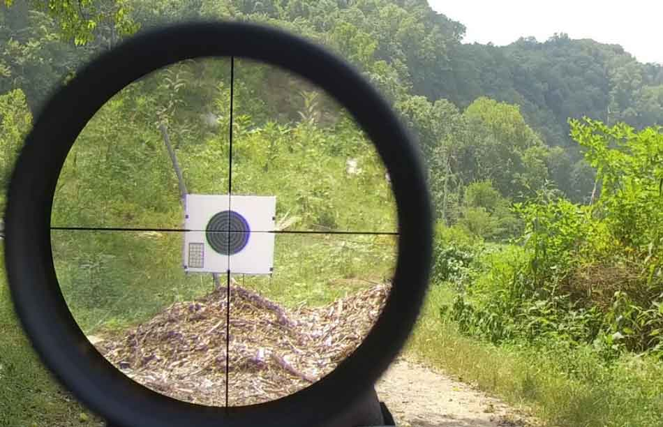 rifle scope sight picture to paper target