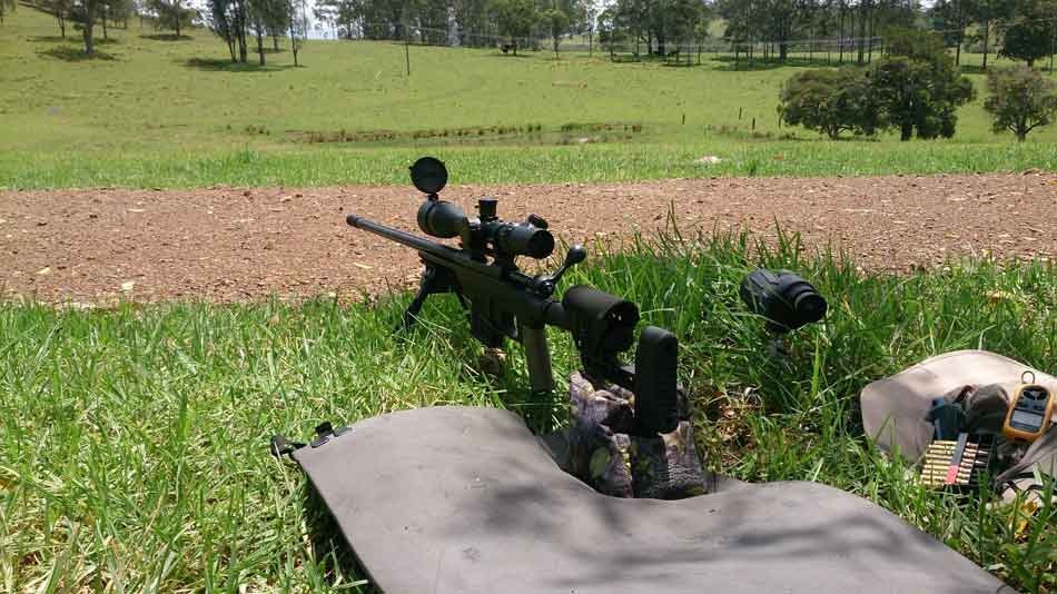 A 308 Winchester rifle on an outdoor range