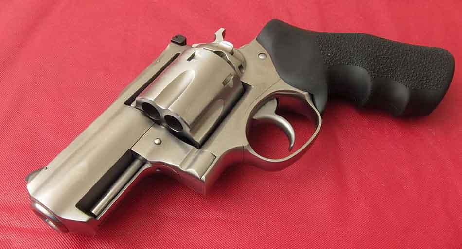 a revolver handgun