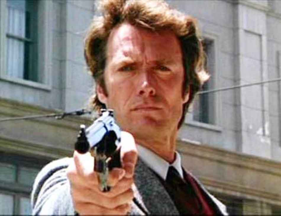 Dirty Harry With a 44 Magnum close up