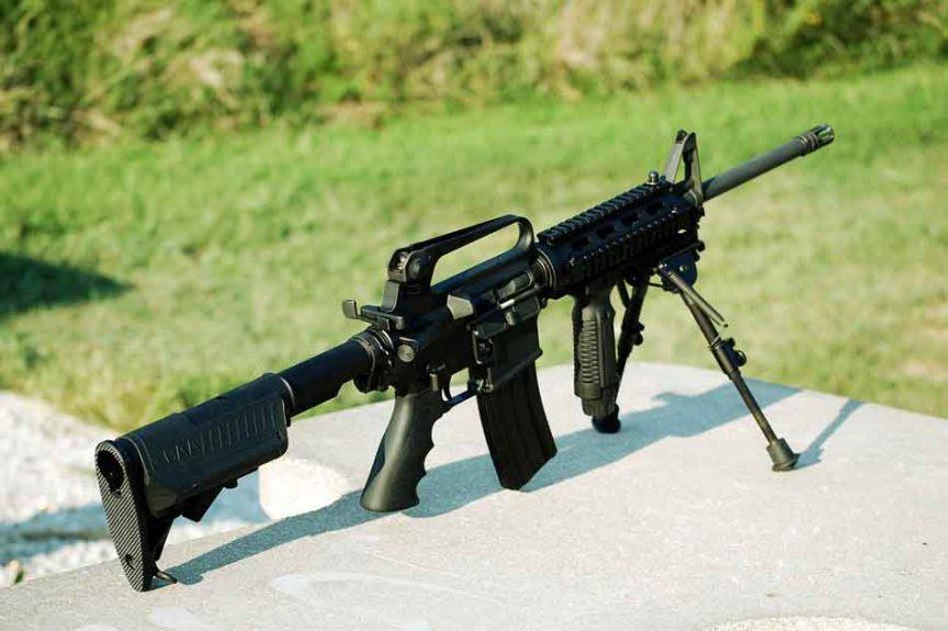 a 556 AR-15 on a bipod