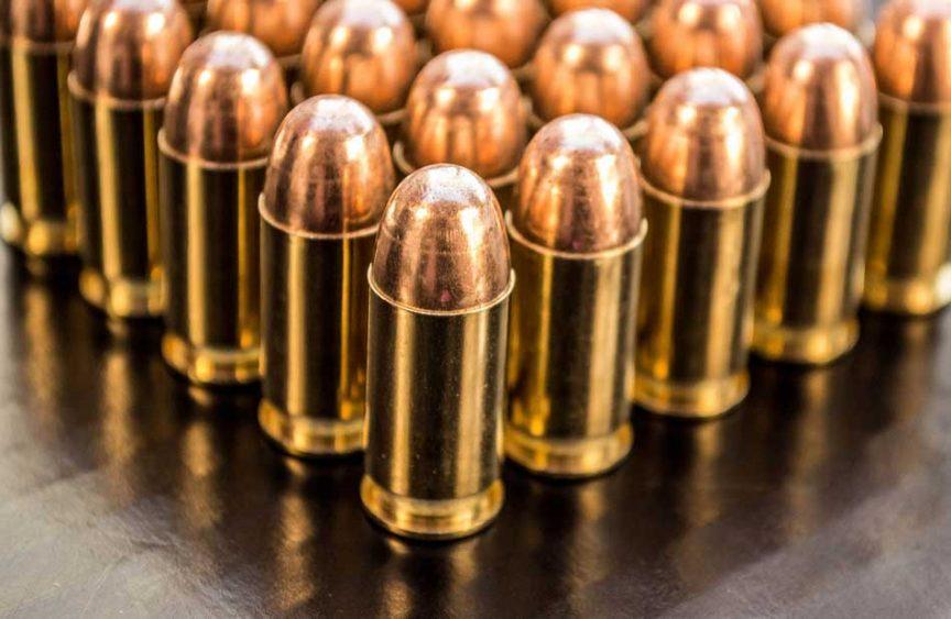 a close up of 9mm ammunition