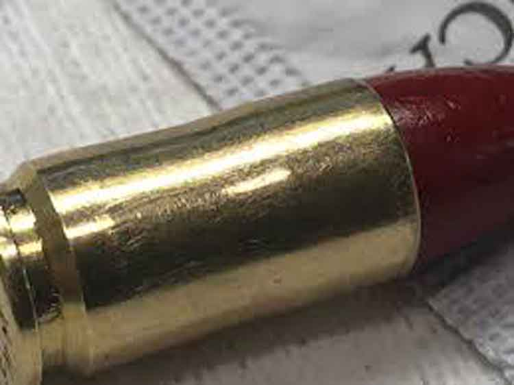 a single 9mm round