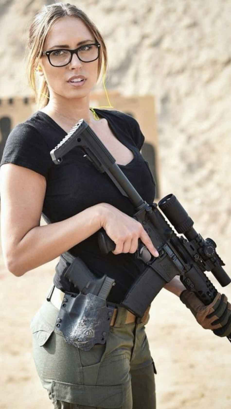 a lady with good trigger discipline