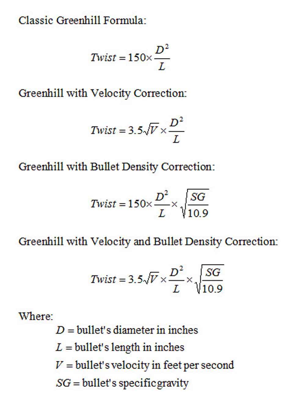 the greenhill formula