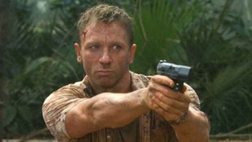 james bond showing good trigger discipline