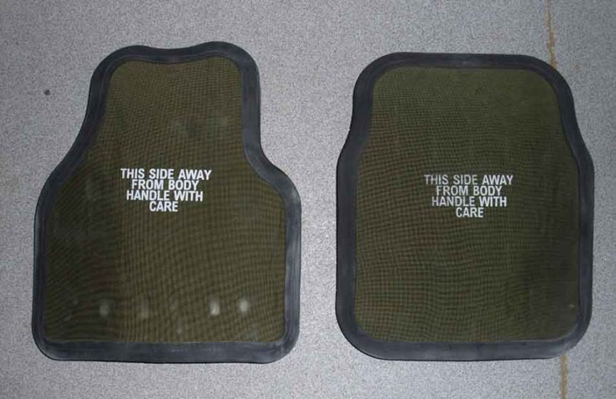 some bullet proof vest plates