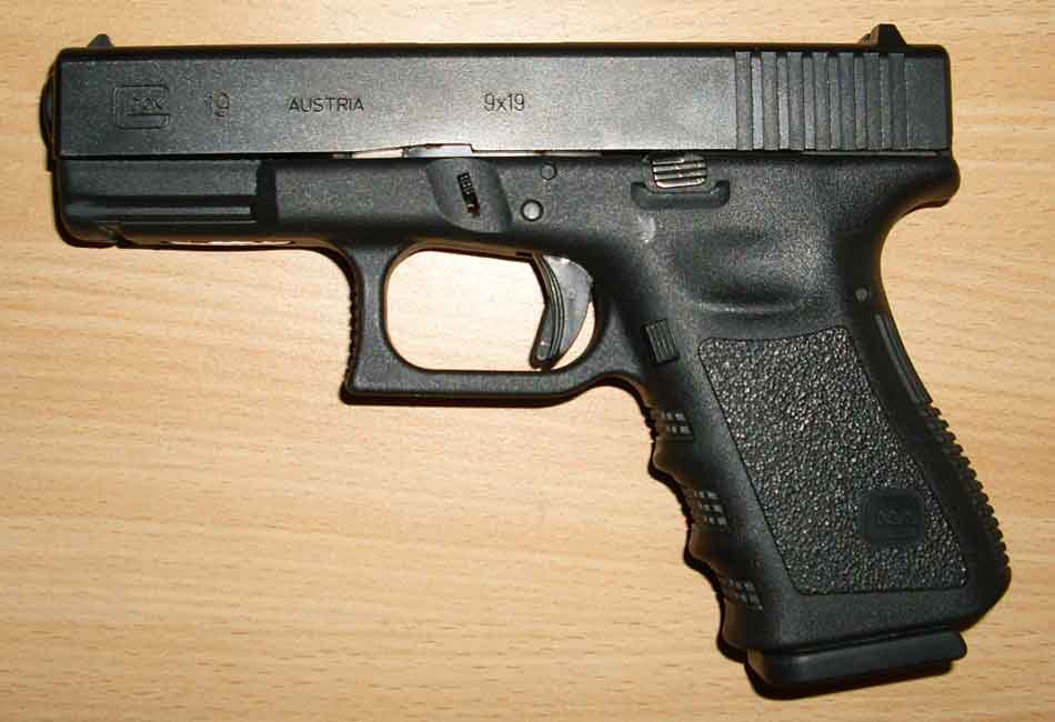 A Glock 19 side view