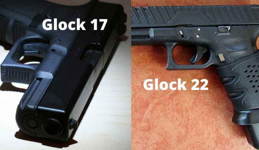 a Glock 17 and a Glock 22
